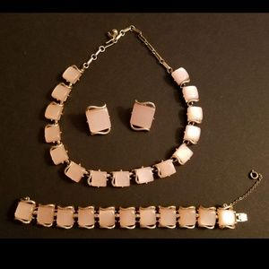 Vintage Coro Pink Moonglow Thermoset Set